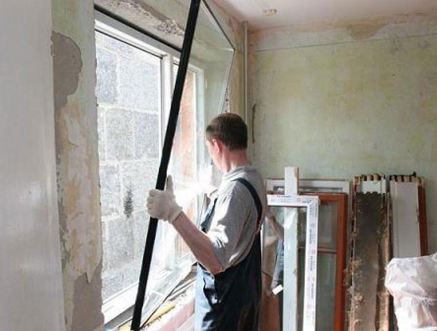 Замена стеклопакетов в окнах и дверях