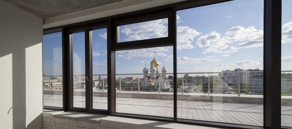 Замена стеклопакетов витражных конструкций