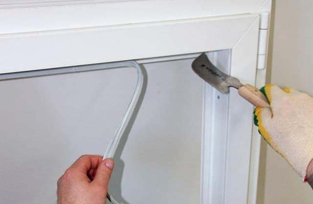 Замена уплотнителя в окнах