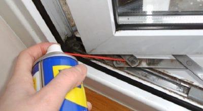 Как смазать фурнитуру окна